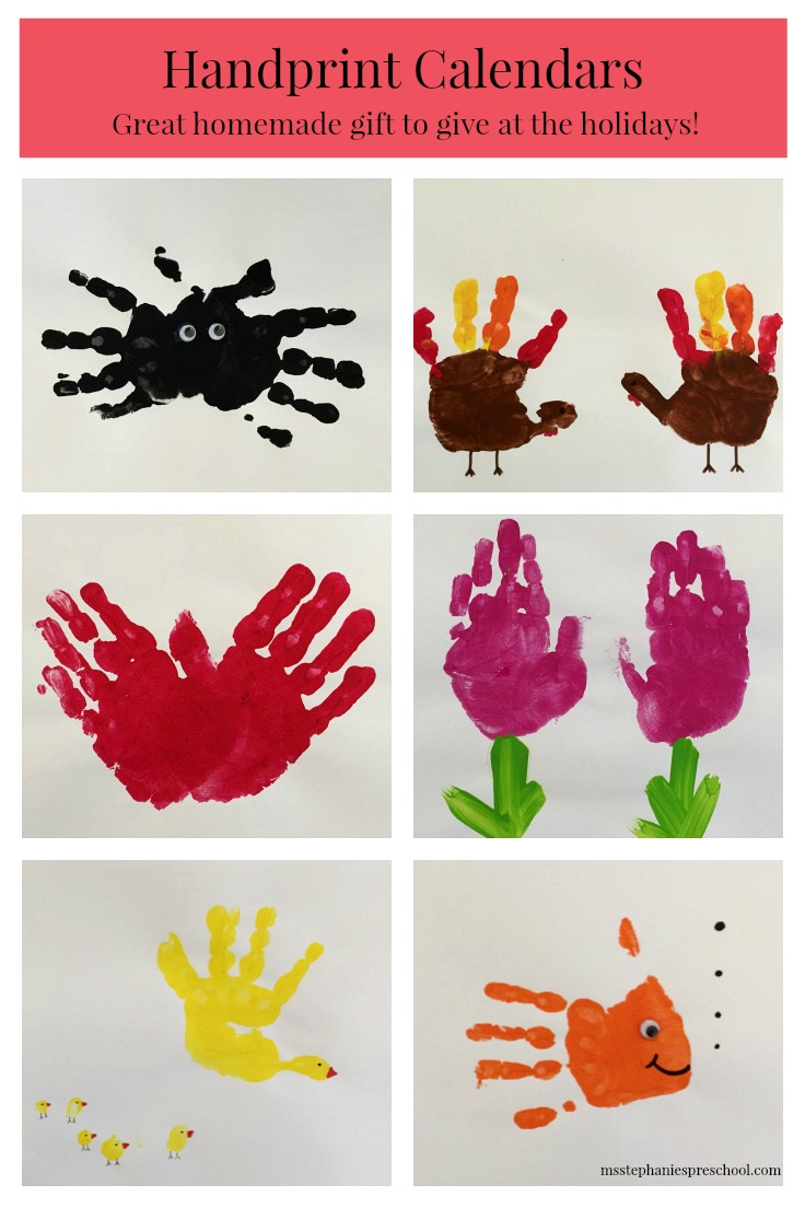 Homemade Calendar For Preschool : Preschool handprint calendars