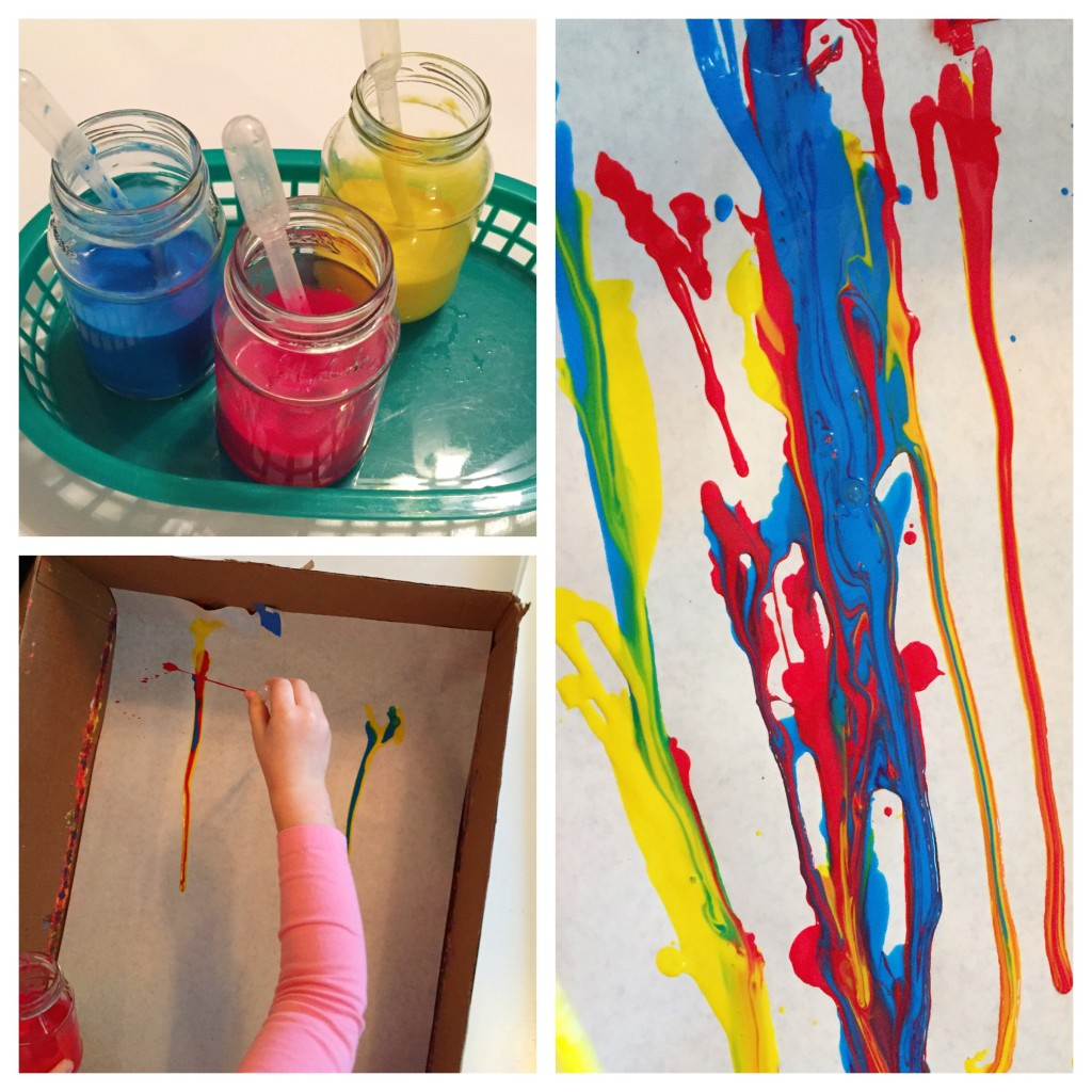 STEAM Activities in the Preschool Classroom - Drip Painting