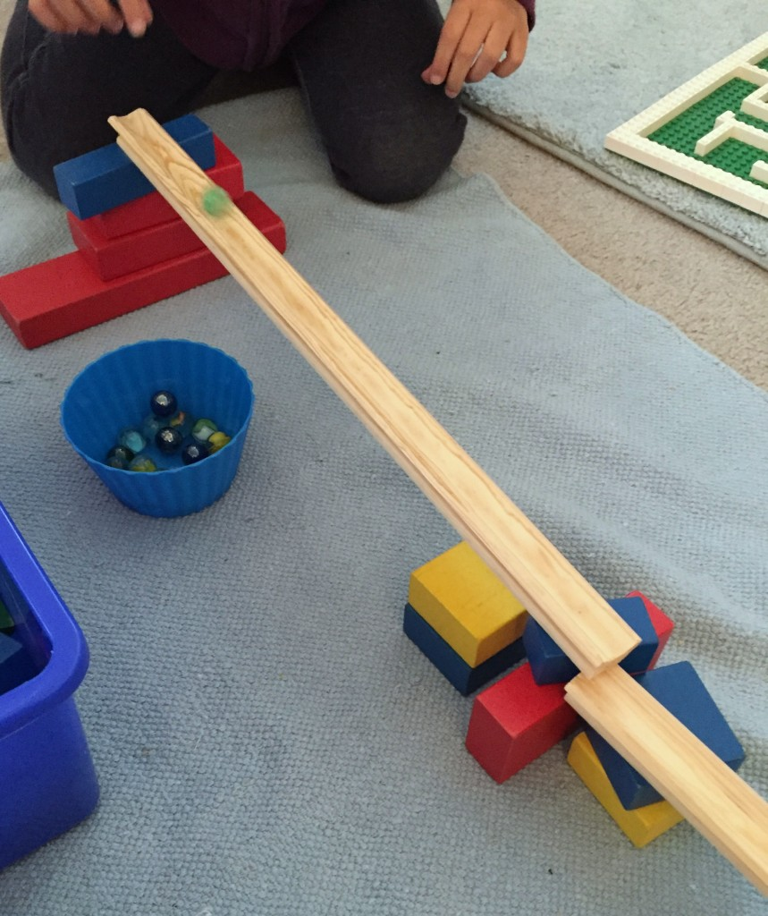 STEAM Activities in the Preschool Classroom - Marble Ramp