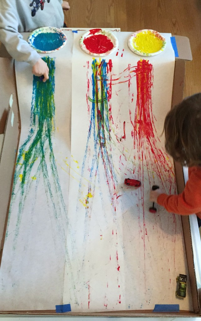 STEAM Activities in the Preschool Classroom - Ramp Art Project