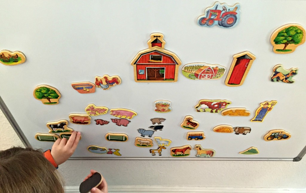 Farm Animal Activities in the Preschool Classroom - Magnetic Board