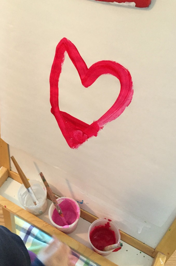 Heart at the easel