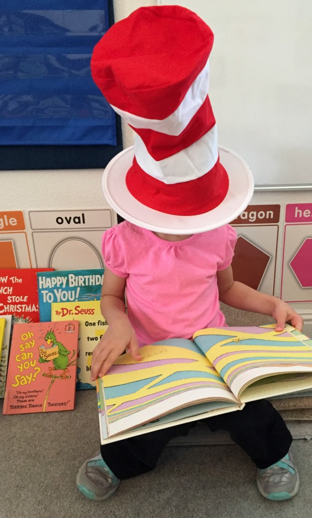 Dr. Suess in the Preschool Classroom - Pics of Dr. Suess reading