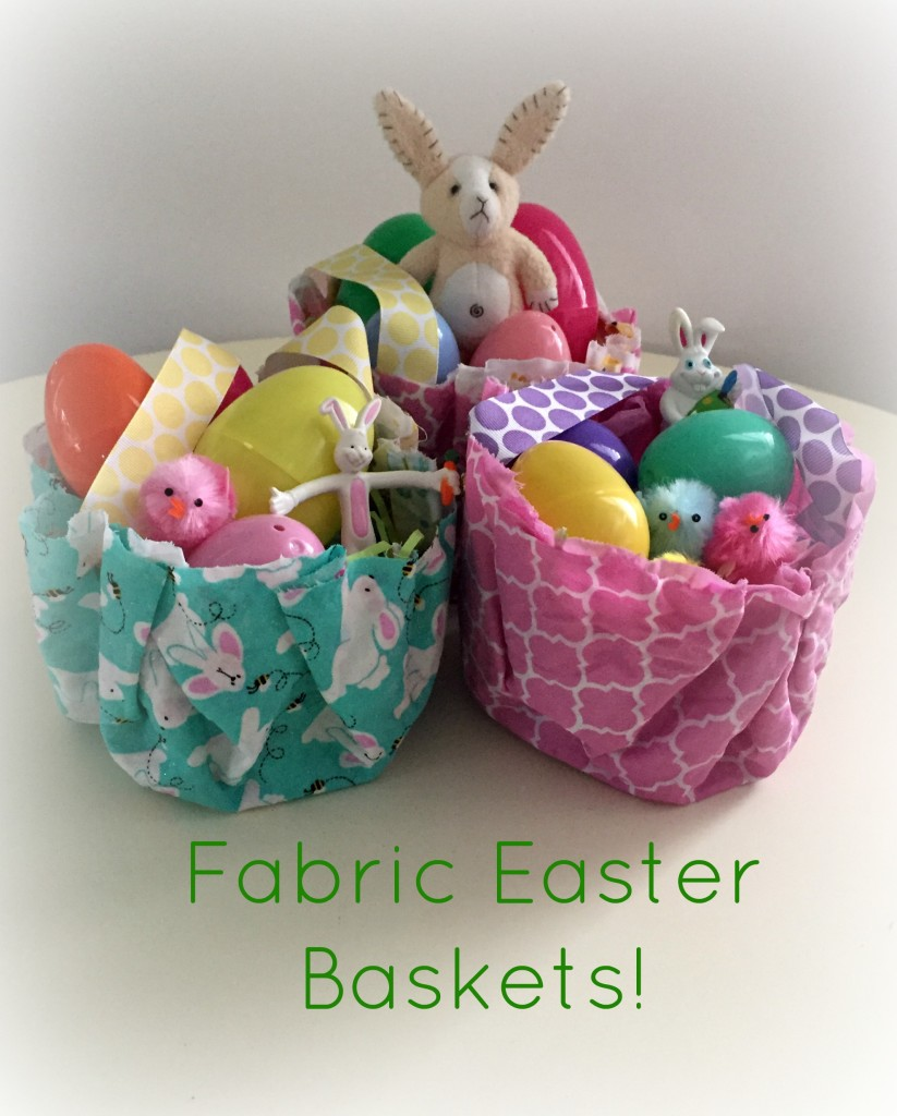 Easter Fun in the Preschool Classroom - Fabric Easter Baskets