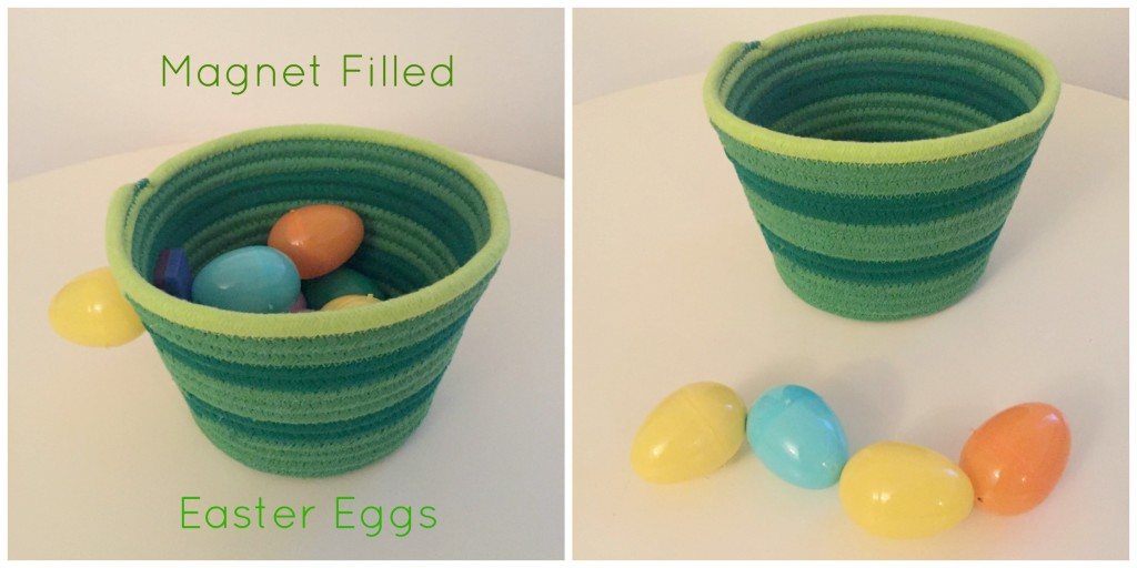 Easter Fun in the Preschool Classroom - Magnet Filled Plastic Easter Eggs - Copy