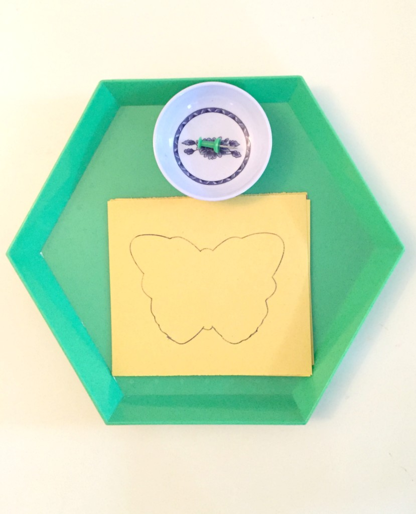 Butterfly Activities for the Preschool Classroom - Butterfly poking