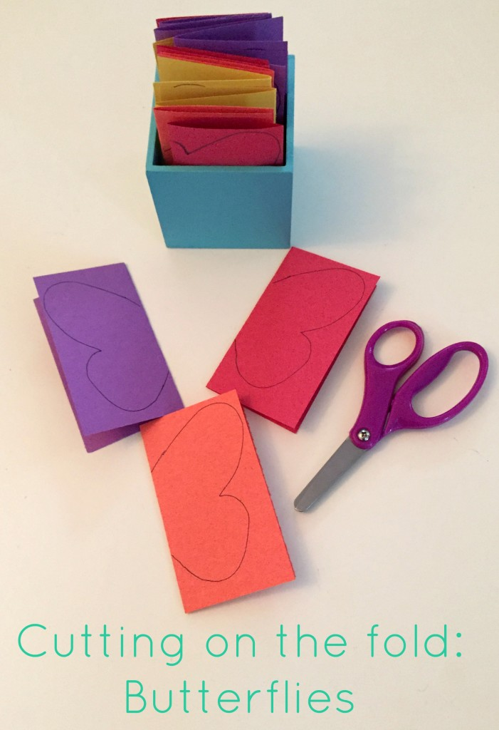 Butterfly Activities for the Preschool Classroom - Cutting on the fold Butterflies