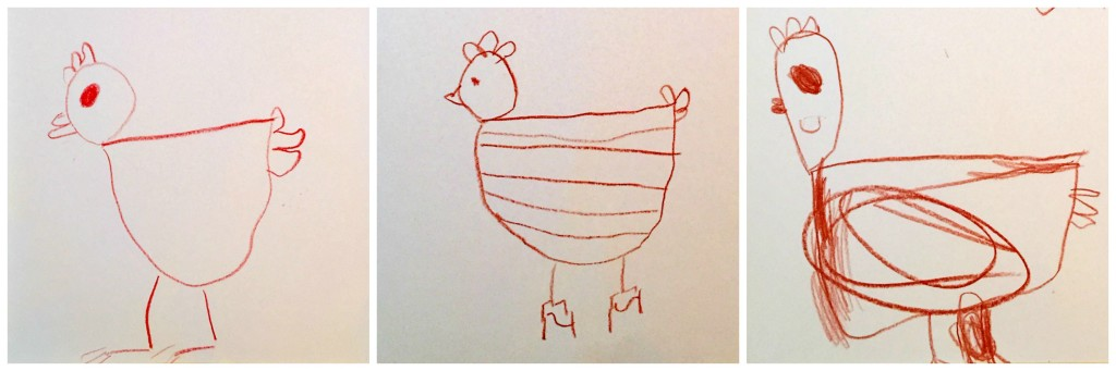 Drawing in the Preschool Classroom - Little Red Hen