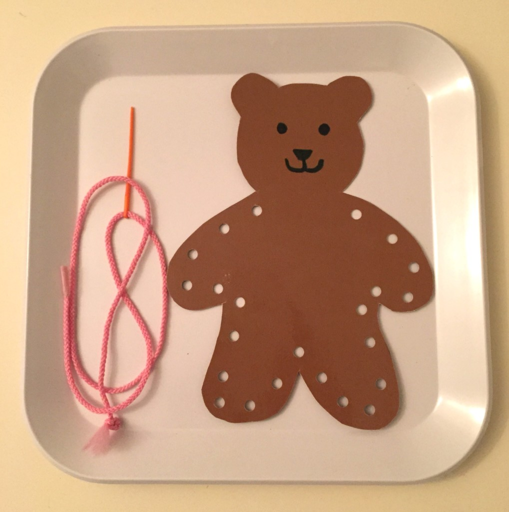 Teddy Bear Day activities for Preschoolers - Sewing bears
