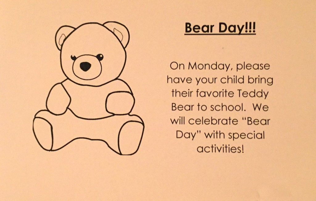 Teddy Bear Day activities for Preschoolers - Teddy Bear Day Invite