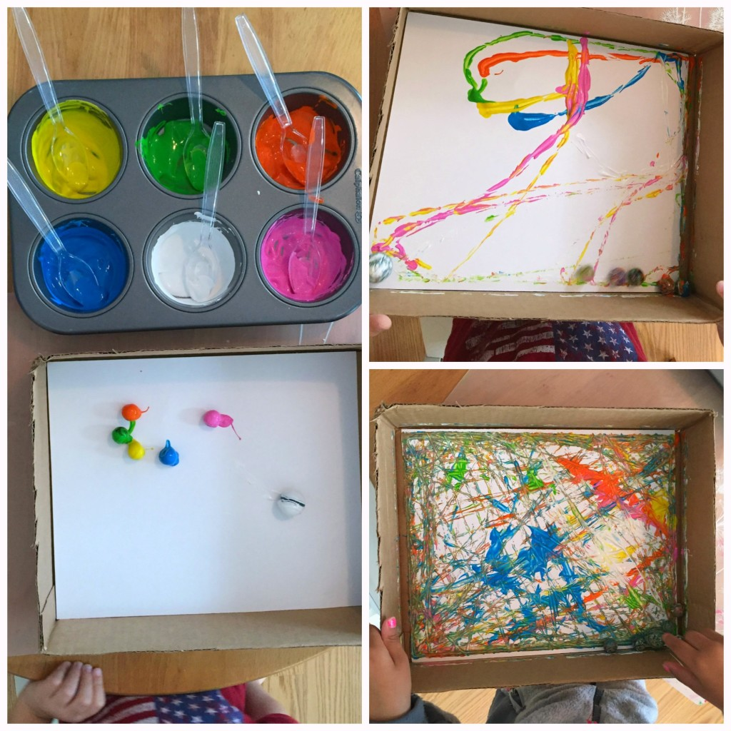 End of Year Favorites Preschool Classroom - Marble Painting