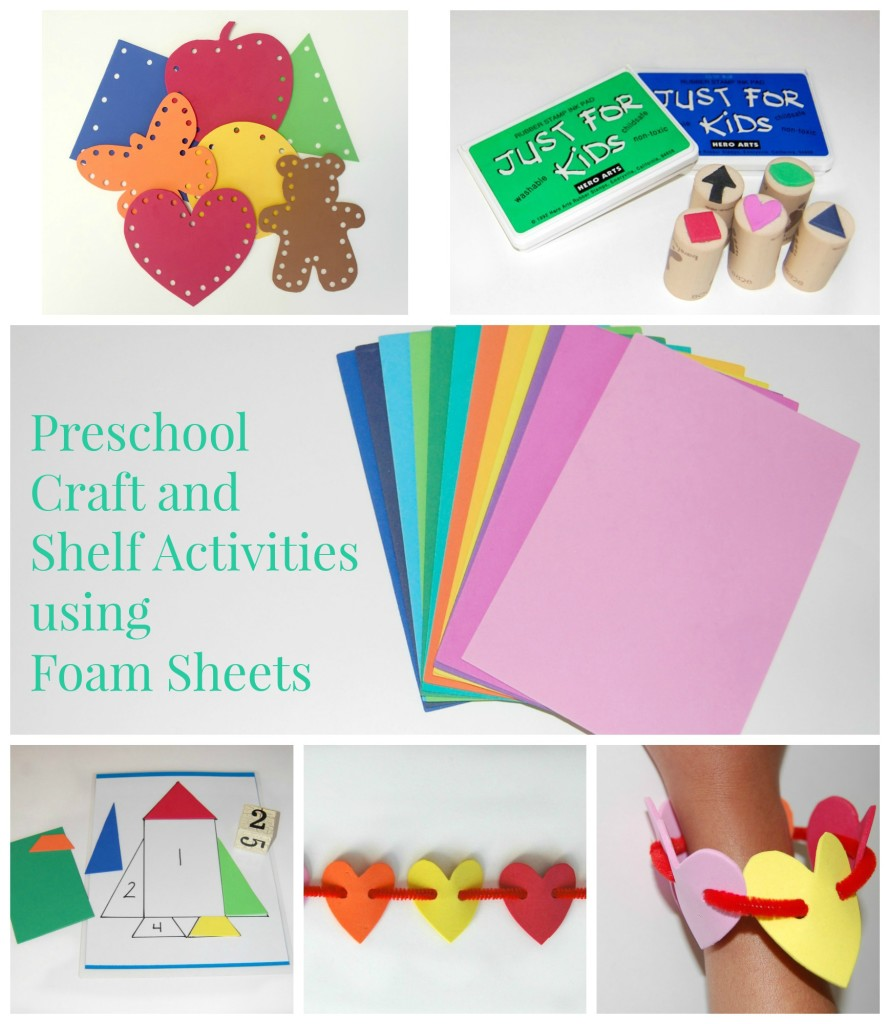 Craft and Shelf Activities using Foam Sheets in the Preschool Classroom