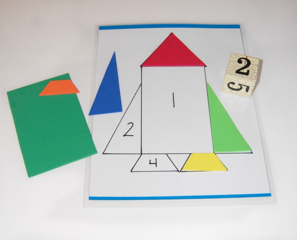 Math Activity using foam sheets