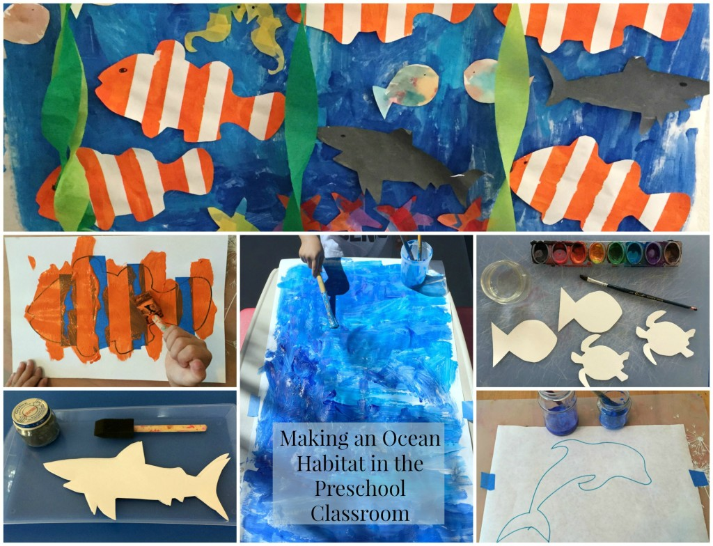 Ocean Habitat Art Collage
