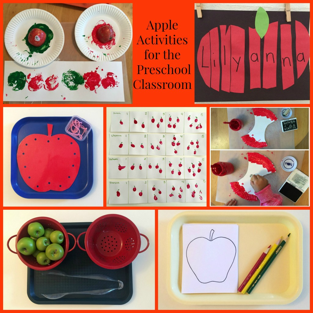 Apple Activities For The Preschool Classroom