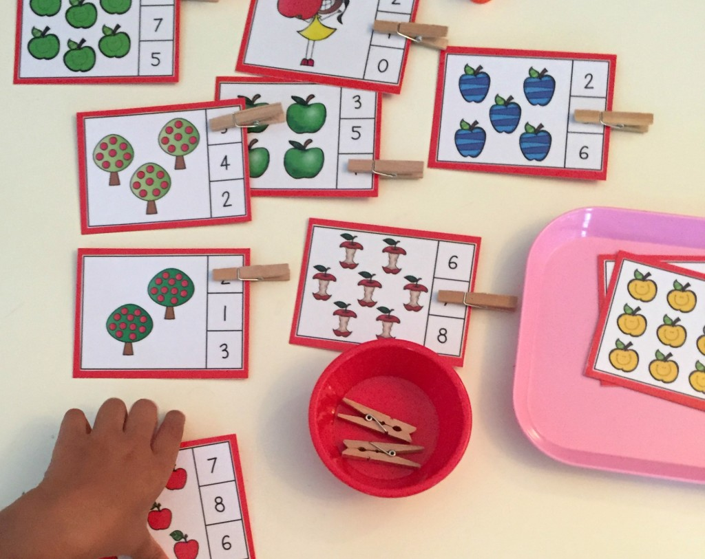 Apple Activities in the Preschool Classroom - Shelf Activity