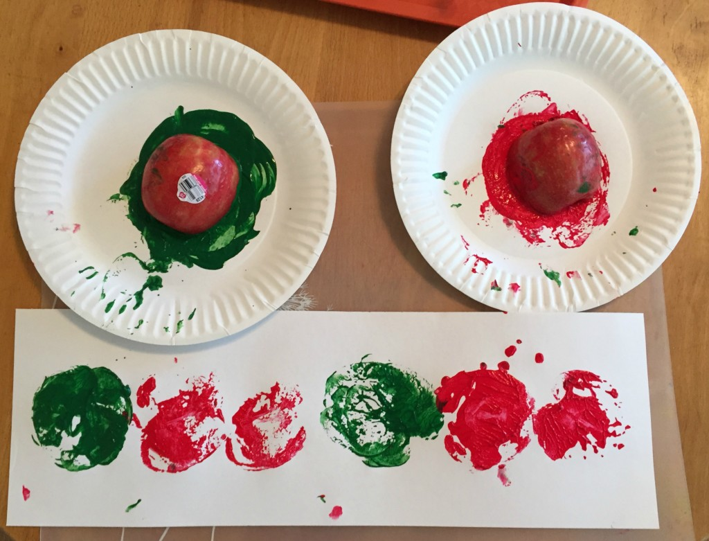 Apple Activities in the Preschool Classroom - Apple Printing
