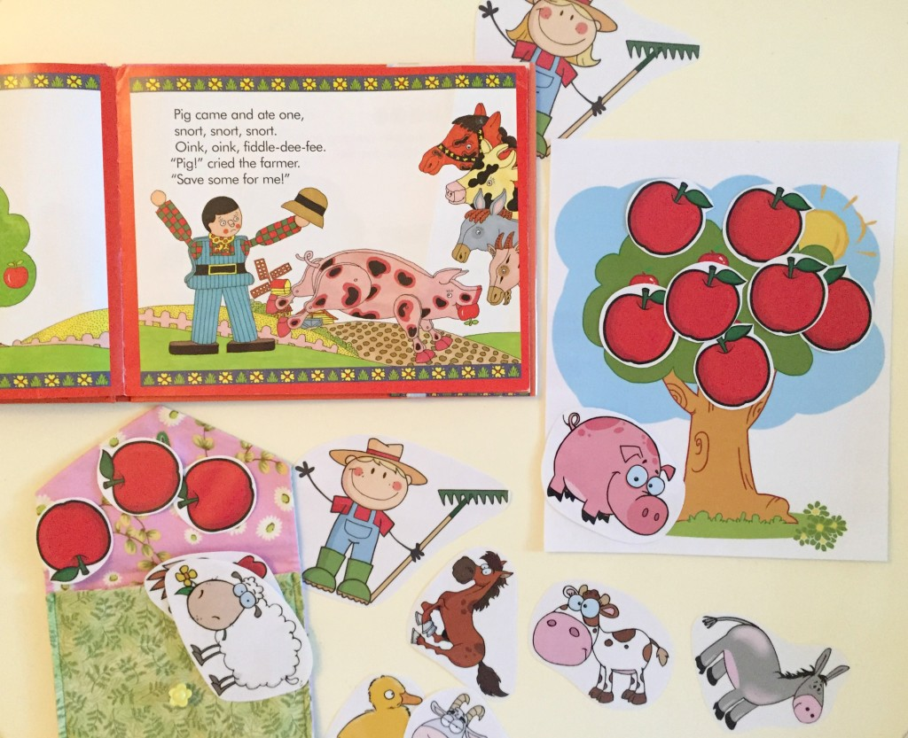 Apple Activities in the Preschool Classroom - Ten Red Apples