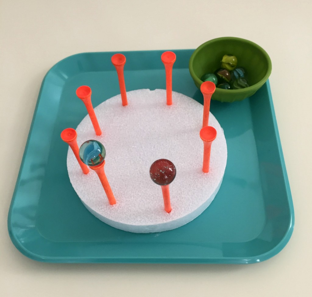Practical Life Activity in the Preschool Classroom - Balancing Marbles