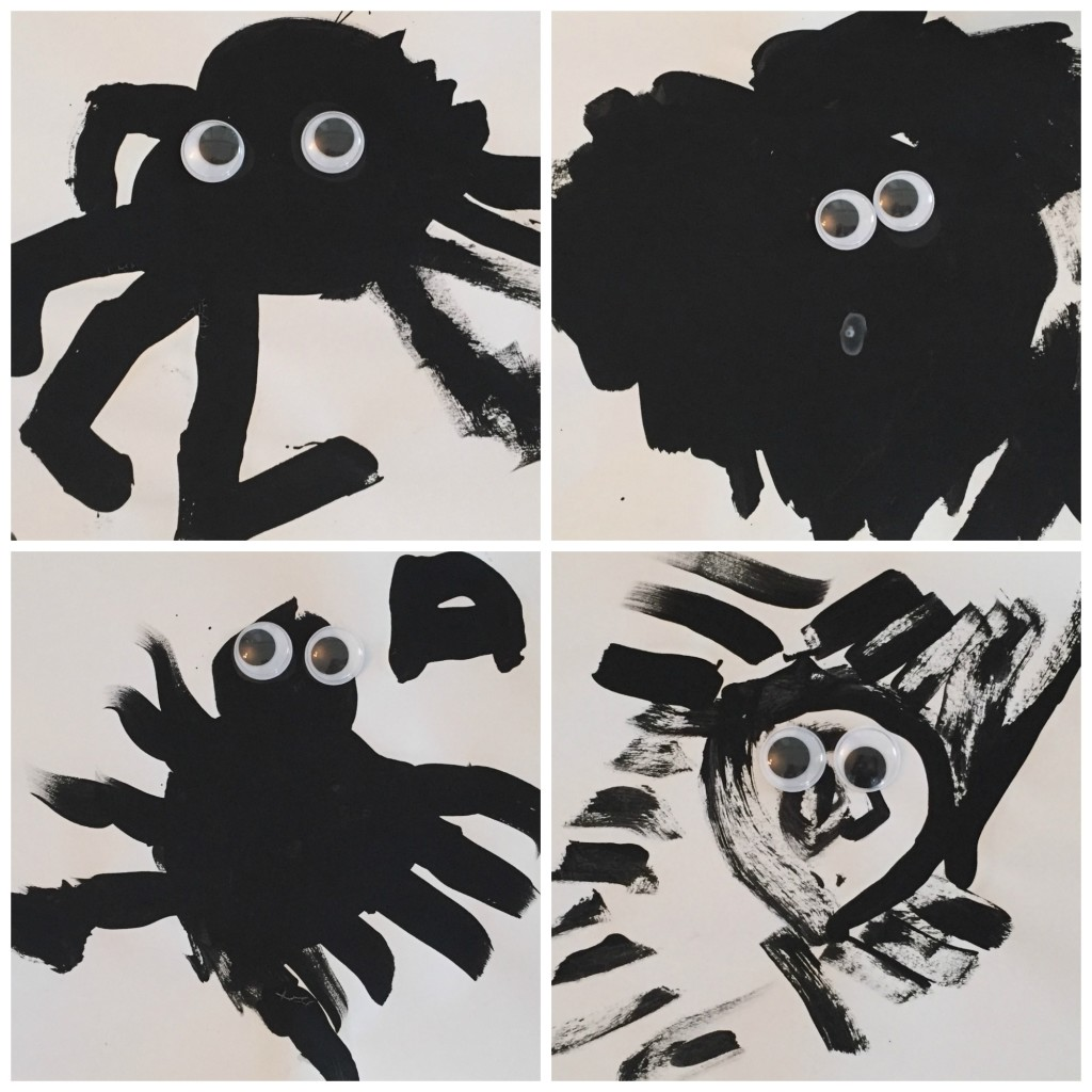 Spider Painting - Ms. Stephanie's Preschool