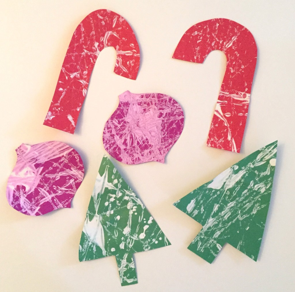 Marble Painting-Christmas Shapes