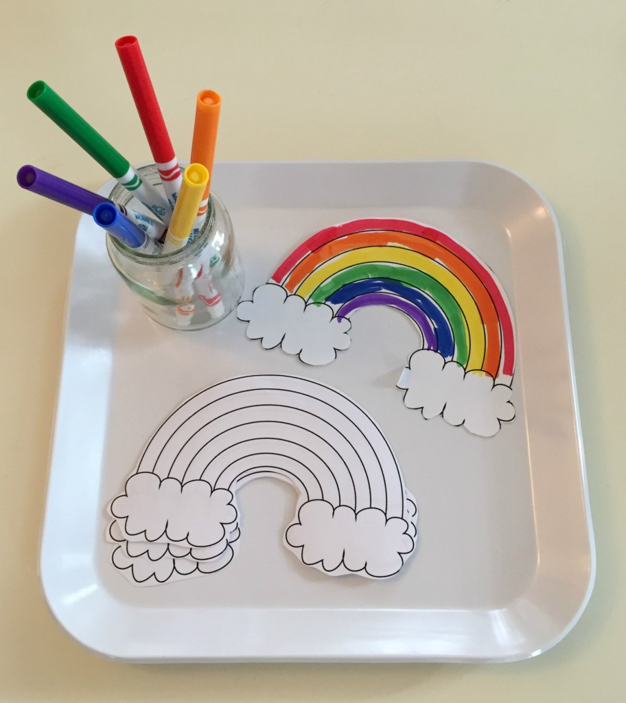 March Shelf Activities - Rainbow Coloring