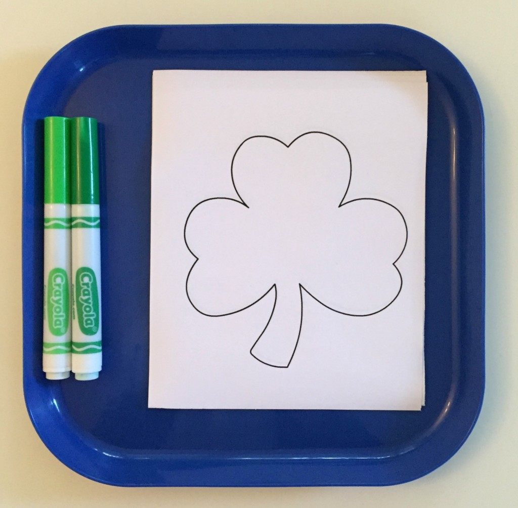 March Shelf Activities - Shamrock Coloring