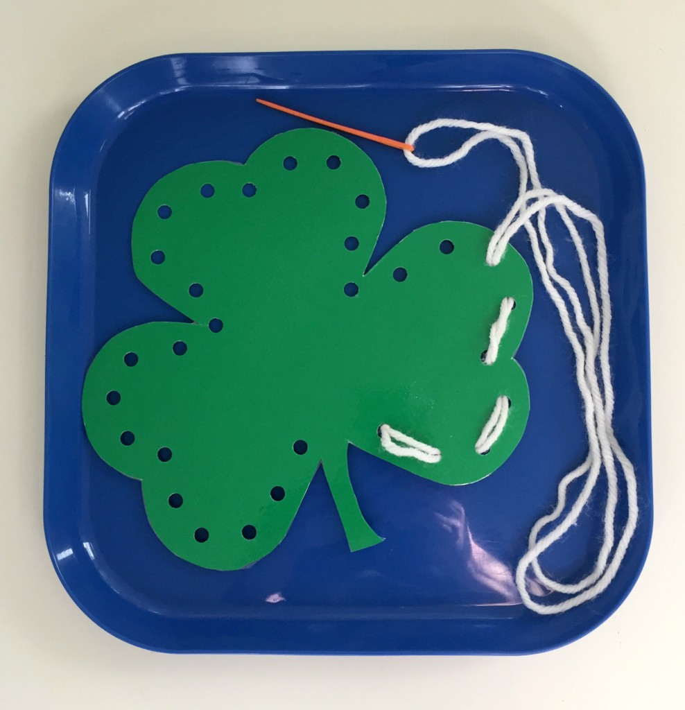March Shelf Activities - Shamrock Sewing