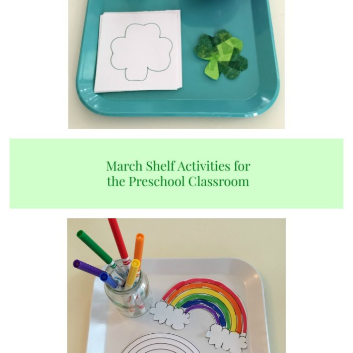March Shelf Activities