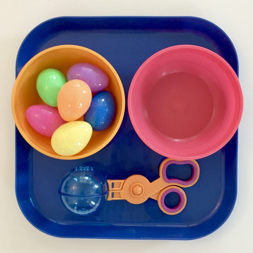 Transferring Easter Eggs - Easter Shelf Activities