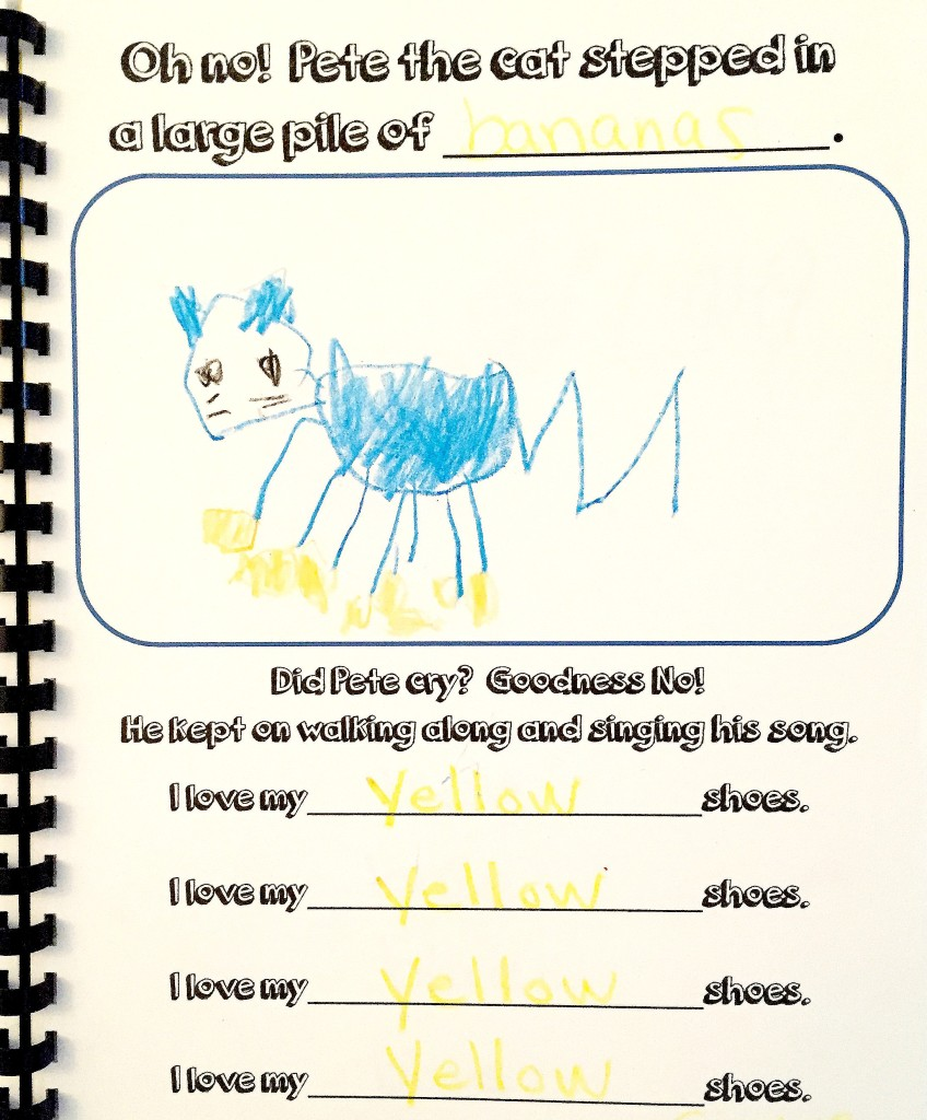Pete the Cat - Page from our Class Book