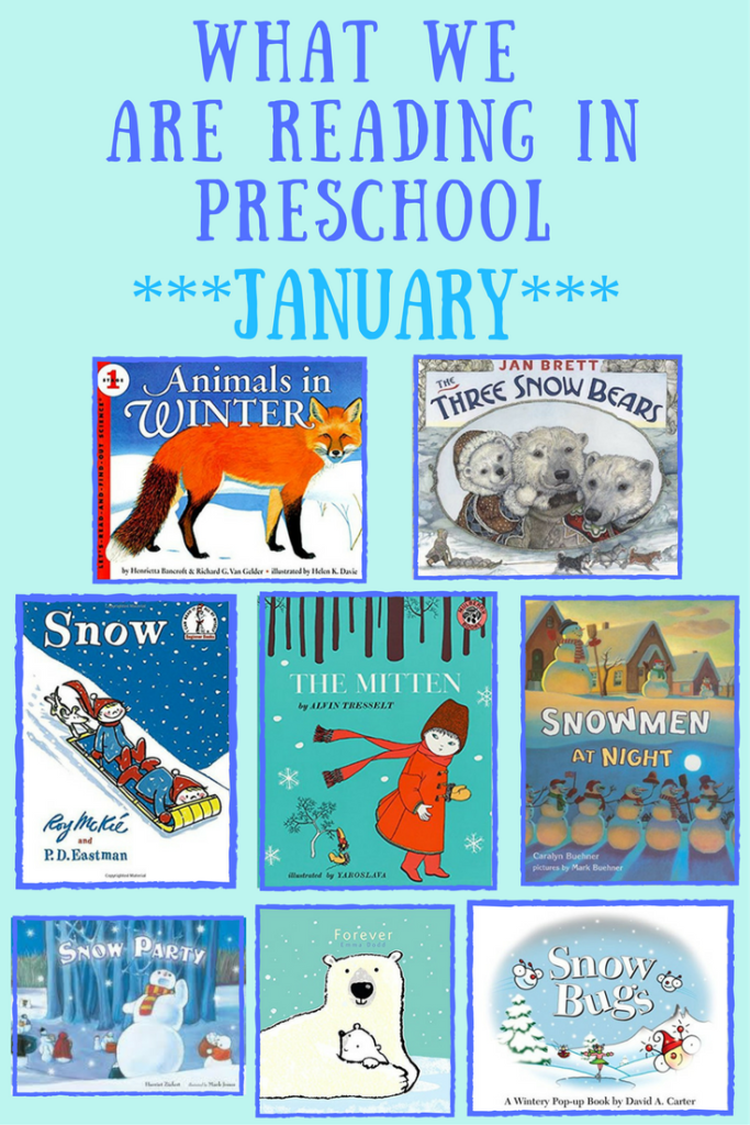 What We Are Reading In Preschool - January